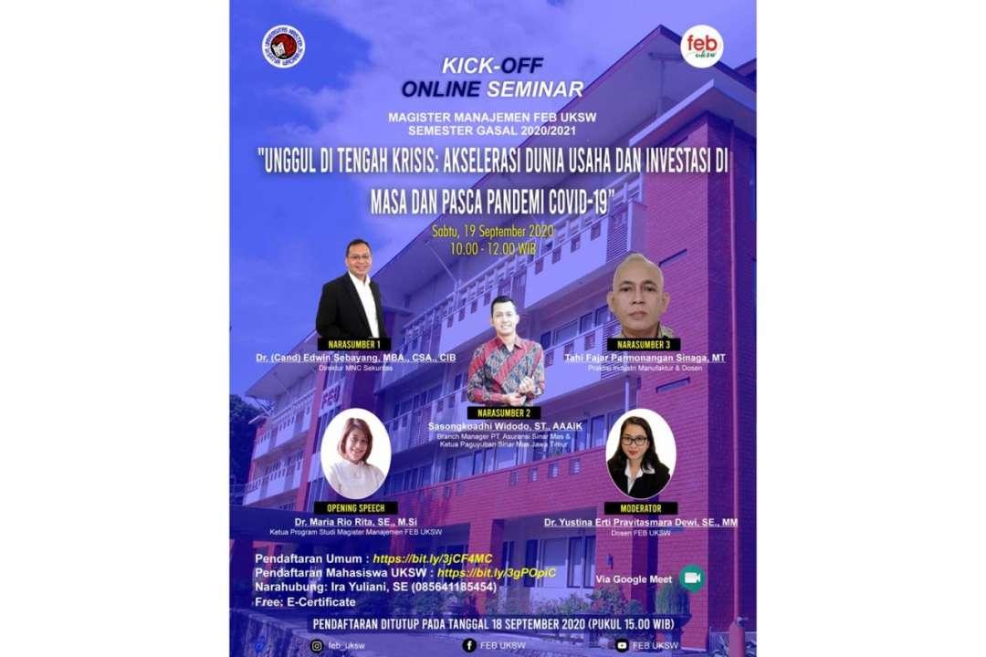 Kick-off Online Seminar Magister Manajemen FEB UKSW
