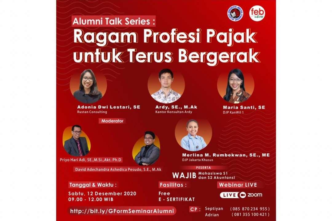 Alumni Talk Series : Ragam Profesi Pajak untuk Terus Bergerak