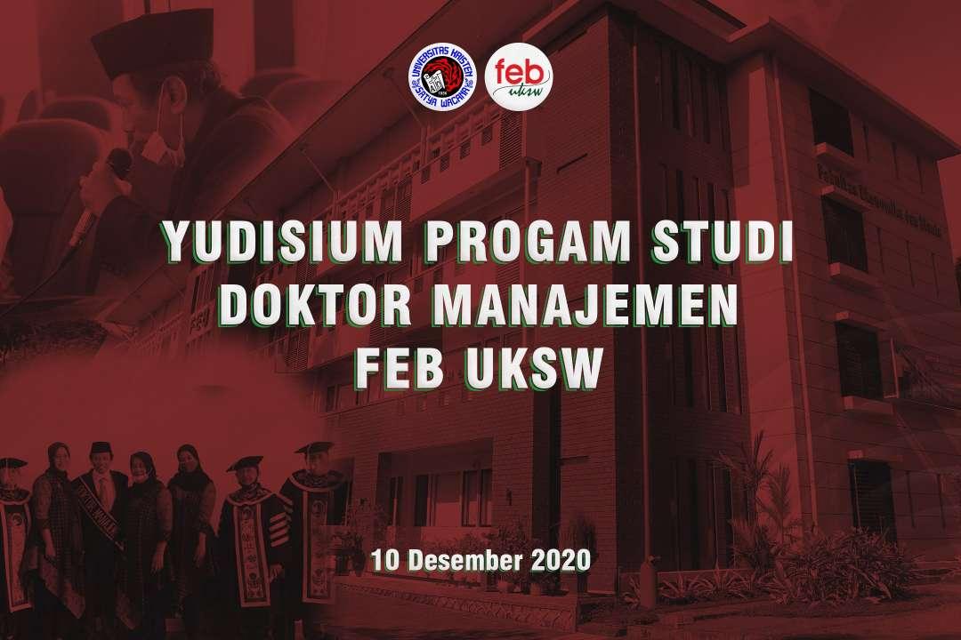 Yudisium Program Studi Doktor Manajemen FEB UKSW